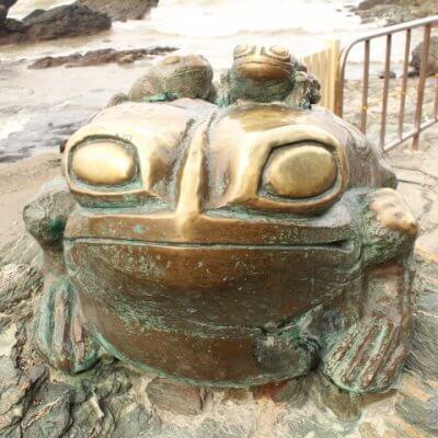 夫婦岩のかえる