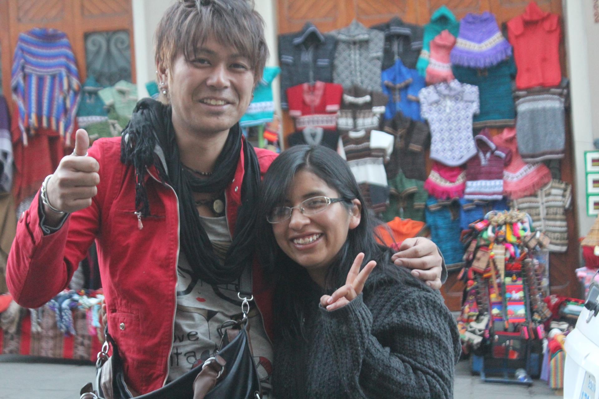 ボリビア人の友達マイラ