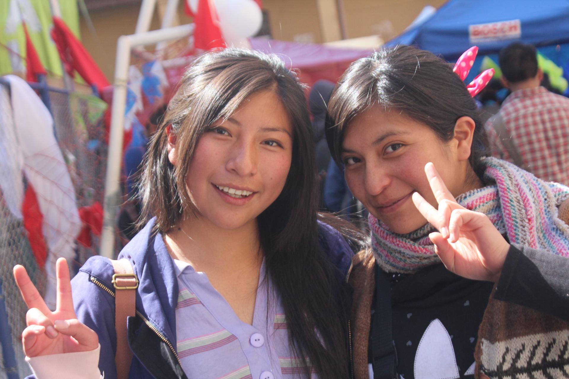 ボリビア人美人姉妹