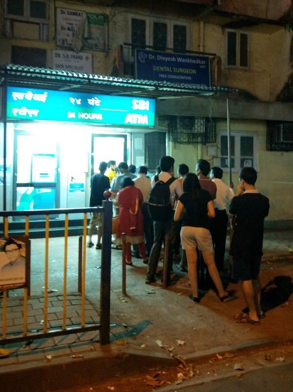 ATM インド 紙幣 無効