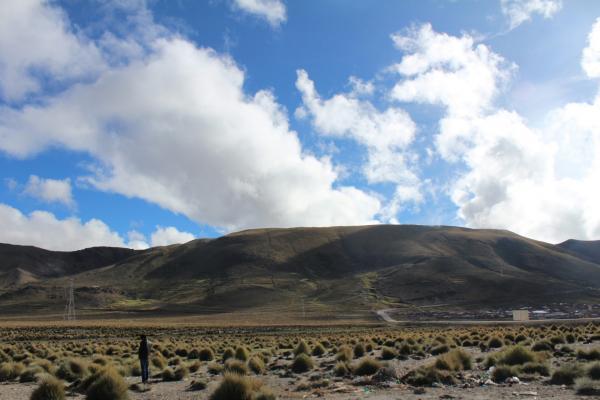 ボリビアはどこも標高が高い山岳国家