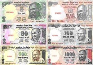 インド紙幣 1000ルピー 500ルピー 無効