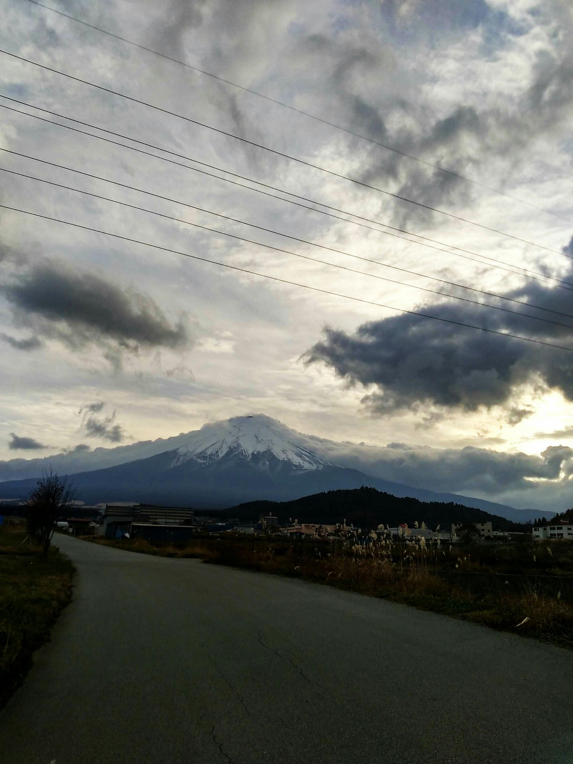 実家の近くで見た富士山