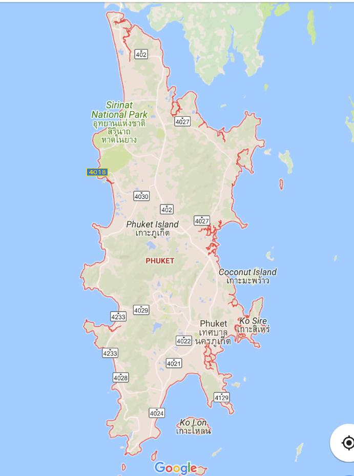 プーケット地図