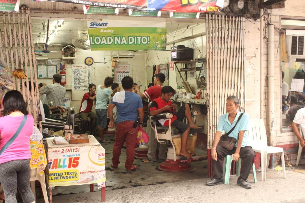 フィリピンの床屋