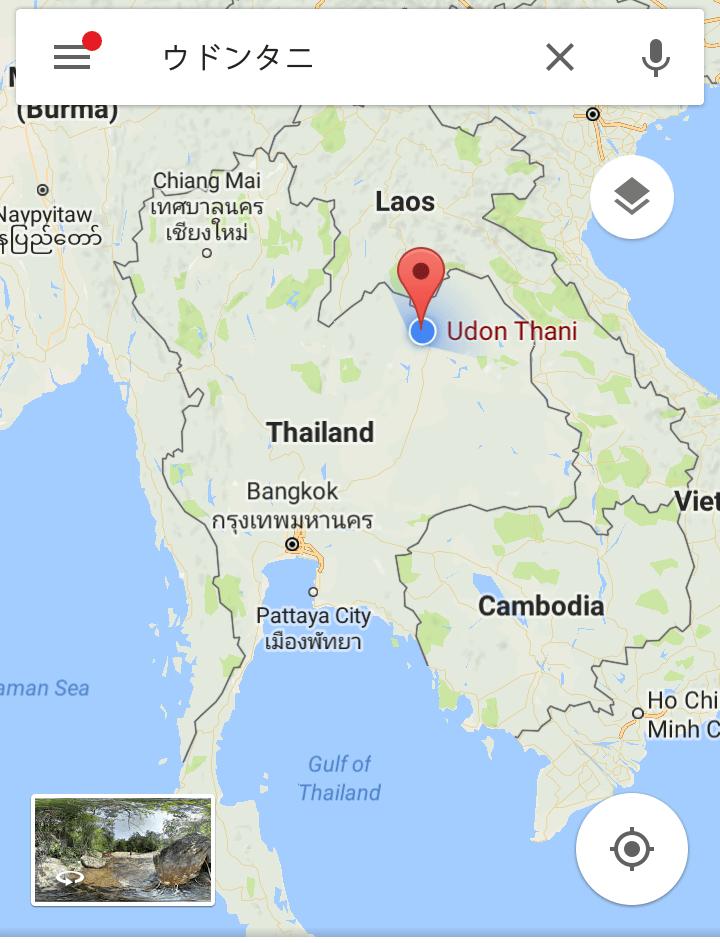 ウドンタニ地図
