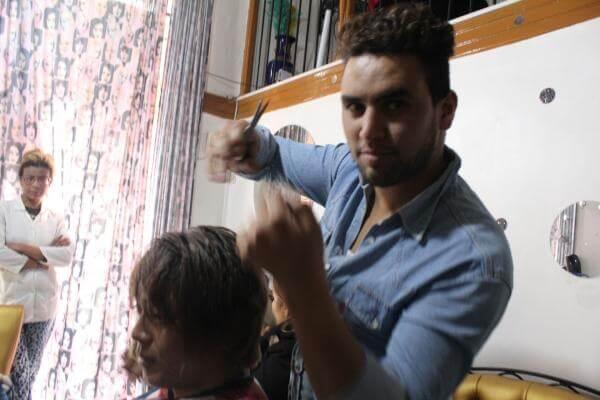 モロッコ散髪