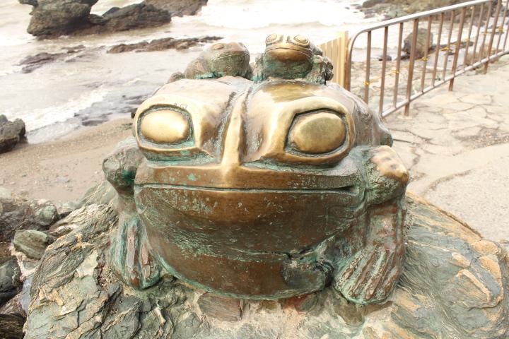 夫婦岩カエル
